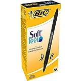 BIC Soft Feel Ballpoint pens Medium Point (1.0 mm) – Black, Box of 12