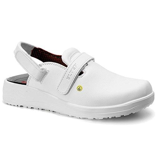 Elten Damen Clogs Zehenschutzkappe, Farbe:weiss;Schuhgröße:37 (UK 4.5)