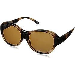 Solar Shield Melrose Polarized Round Sunglasses, Tortoise, 58 mm