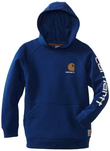 - Carhartt Big Boys' Graphic Fleece Hooded Sweatshirt, Estate Blue, Large-14/16