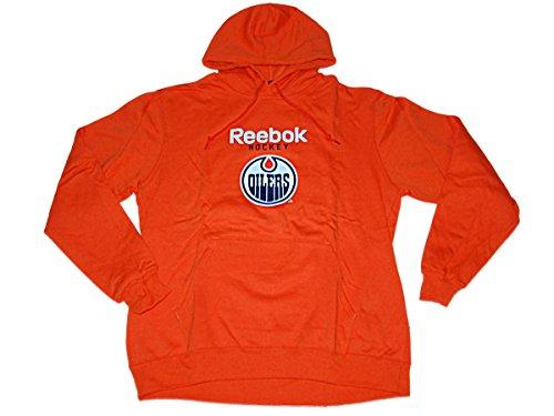 Reebok Edmonton Oilers Orange Big Logo Pullover Hoodie Sweatshirt (L) (Orange Reebok Hoodie)