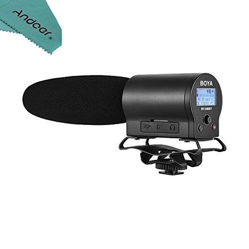 میکروفن خازن با کیفیت پخش BOYA by-DMR7 با ضبط کننده فلش ضبط شده برای دوربین ها و ویدیوهای Canon Nikon Sony DSLR Sony