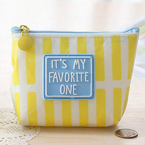 Quality Lovely Nice ID Credit Card Storage Bag Change Pouch Coin Purse Wallet (color - Yellow)