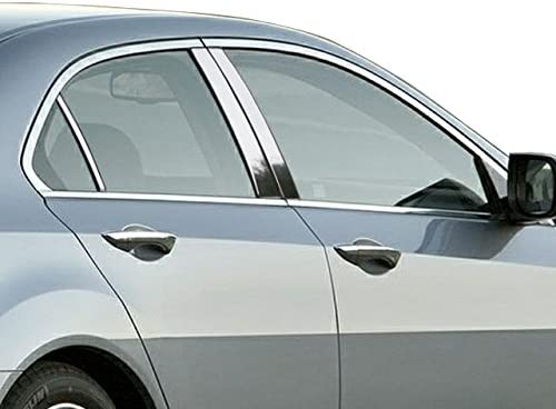 QAA fits 2009-2014 Acura TSX 6 Piece Stainless Pillar Post Trim PP29291