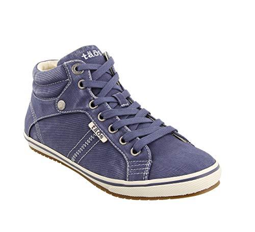 (Taos Footwear Women's Top Star Indigo Distressed Sneaker 10.5 M US)