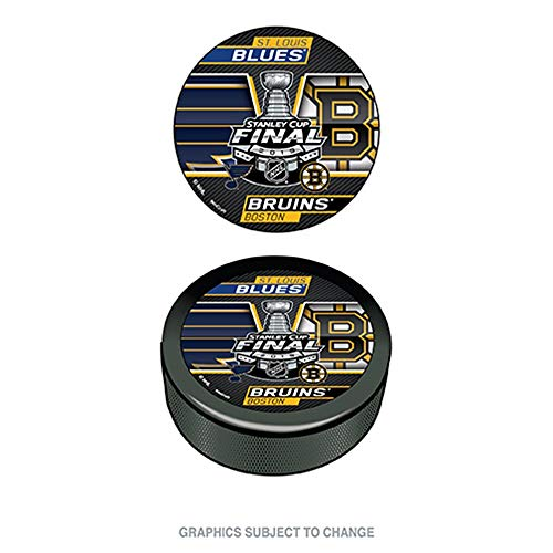 WinCraft 2019 NHL Stanley Cup Final Dueling Puck Boston Bruins Vs. St Louis Blues