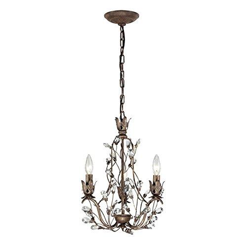 Sagemore Collection 3 Light Chandelier, Bronze Rust ()