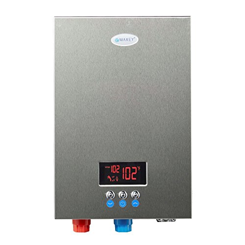 Marey ECO180 18kW 4.4 gpm 220V Self-Modulating Multiple Points Tankless Electric Water Heater for The Whole US Territory, Small, Silver (Sale For Commercial Heaters)