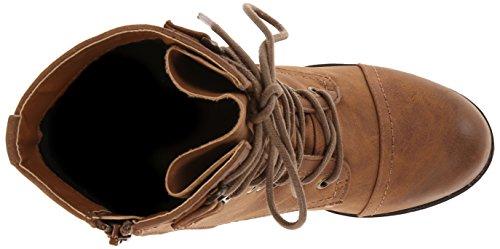 887865273226 - Madden Girl Women's Westmont Combat Boot, Cognac, 8.5 M US carousel main 7