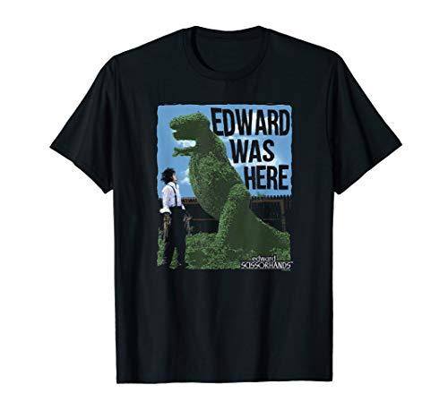 Edward Scissorhands Edward was Here T Shirt]()