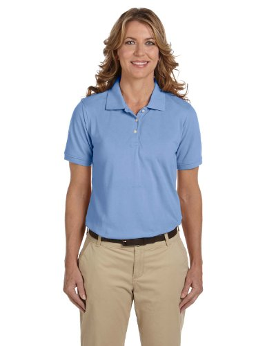 Ladies' Easy Blend Polo, Light College Blue, 2XL