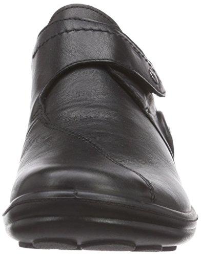 Maddy de Cuero Mujer 04 Negro Zapatilla Negro Romika 687dz6
