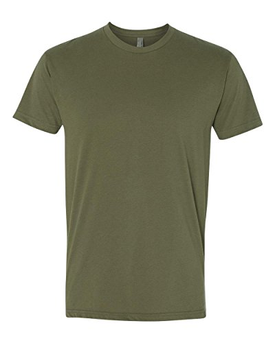 Next Level Apparel 6410 Mens Premium Fitted Sueded Crew Tee - Military Green44; Large