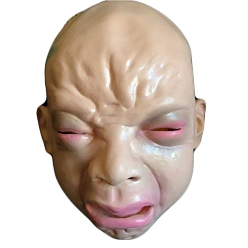 Scariest Womens Costumes (Mardi Gras Masks Halloween Party Latex Jaffaite Plastic Masquerade Masks Funny Scary Haunted House Best Face Mask Headgear Decorations Crying Baby)