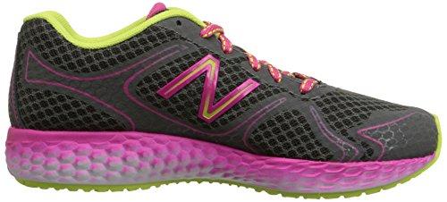 888098070194 - New Balance KJ980 Fresh Foam Running Shoe (Little Kid/Big Kid), Grey/Pink, 4 M US Big Kid carousel main 6