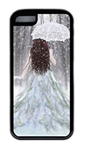 Customized Case Princess in a fairy tale TPU Black for Apple iPhone 5C