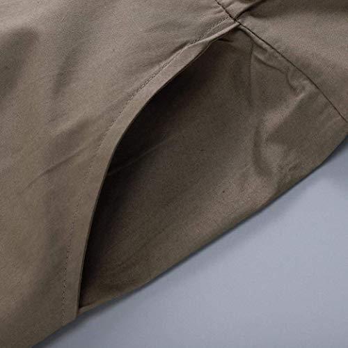 femmes taille armée vert pour couleur à costumes XL Zhrui haute taille la avec taille vert poches ZEq0vv7w