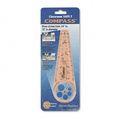 Classroom Safe-T Products Plastic Compass [Set of 3]]()