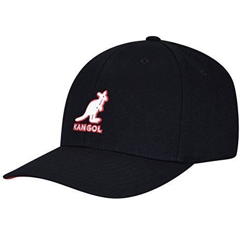 (Kangol Unisex-Adult's 3D Wool Flexfit Baseball Cap, Black, L/XL)
