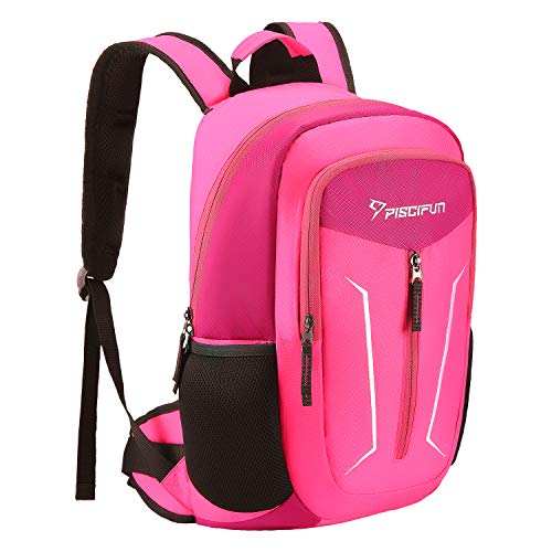 Piscifun Cooler Backpack - Leakproof Insulated Cooler Bag - Soft Lightweight Backpack Cooler for Men & Women - Keeps Food and Drinks Cold - for Picnic, Fishing, Hiking, Camping, Park, Day Trip Pink (Backpack Cooler Pink)