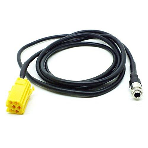 SODIAL 1PZ cavo MINI ISO 6Pin a 3.5 MM Jack Dispositivo audio Adattatore cavo Aux esterno per Fiat Grande Punto Alfa 159