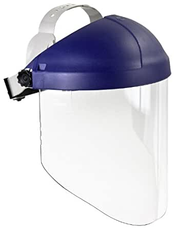 3M Ratchet Headgear H8A, Head and Face Protection 82782-00000, with 3M Clear Propionate Faceshield W96