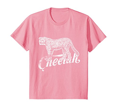 Love Cheetahs (Kids Love Cheetah Funny Tee Shirt Fast African Cat Silhouette 10 Pink)