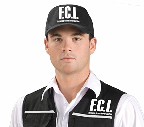 [FCI Forensic Detective CSI Police Man Cop Hat Adult Costume Accessory] (Indian Policeman Costume)