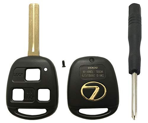 Replacement Key Fob Case Shell Fit for Lexus 3 Buttons Keyless Entry Remote Control Smart Car Key Fob Cover Casing Housing (Black With Blade) – Go4CarZ Store