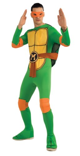 Nickelodeon Ninja Turtles Adult Michelangelo and Accessories, Green,