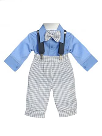 Amazon.com: Baby Boy Easter Suit Linen Blue Knicker - 24M ...