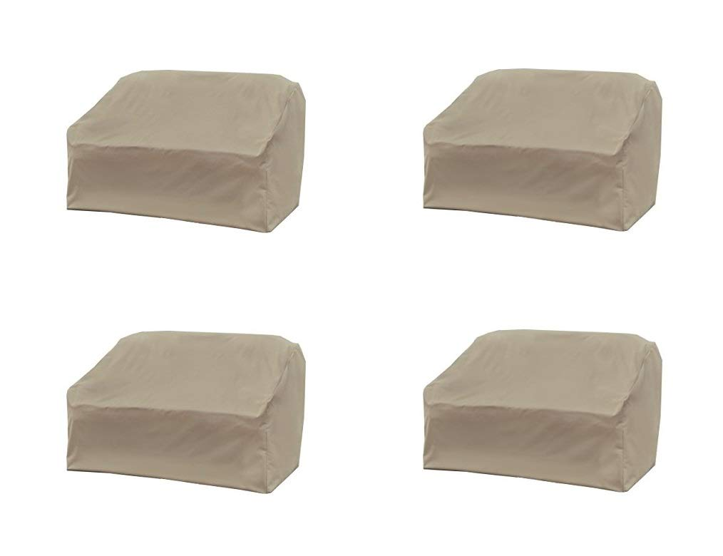 Modern Leisure Allen Patio Protectors Patio Love Seat Cover, Weather & Waterproof Love Seat Cover (Pack of 4)