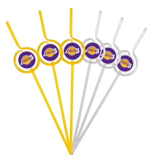 NBA Los Angeles Lakers Six Pack Team Sip Sport Straws ()