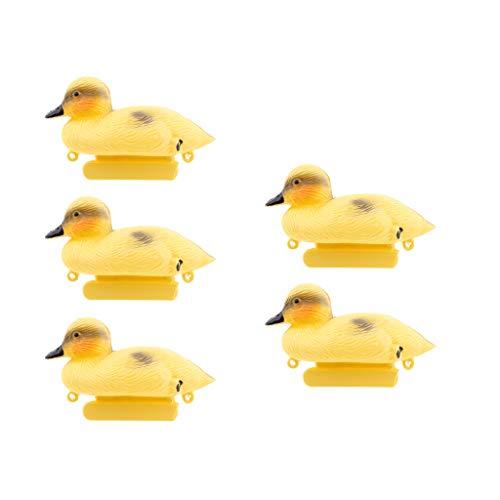 5Pcs Baby Duckings Floating Decoy Ducks Mallard Plastic Ornament - Water Duck Keel Decoys