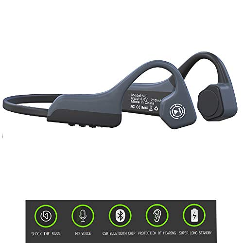 Jonly Bluetooth Bone Conduction Headphones Wireless Shocking Bass HD Call Long Standby is Suitable for Sports Driving