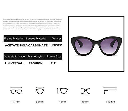 sol de sol Gafas caliente Venta Moda Butterfly 4 de gafas de UV400 Mujer calidad marca Nueva de de gafas alta de 7XztZwnx