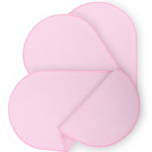 Waterproof Diaper Changing Pad Liners, Suits Contour or Flat Change Table, Eliminates the Need for Cloth Covers, Doubles as Portable Changing Station Mat, Washable, Premium Bamboo Composite - Pink by Mrs Muffet