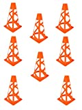 4 inch soccer cones - 8-Pack Flexible 7 inch High Soccer Cones, Orange Cones for Agility Training, Soccer, Football, Kids, Field Marker