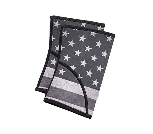 Unbroken Designs Elbow Sleeves (1 Pair) Support & Compression for Weightlifting, Arm wrap, Olympic Lifts, Gymnastics Movements - 2mm Neoprene Sleeve for Women Athletes - Stars & Stripes - Medium (Unbroken Designs)