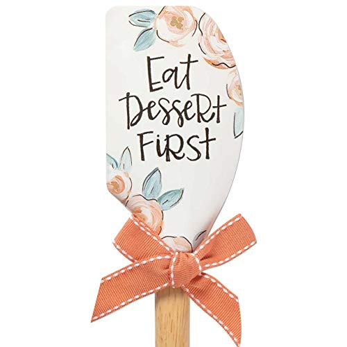 Brownlow Gifts 74744 Vintage Kitchen Silicone Spatula, 12.5-Inches, Eat Dessert First