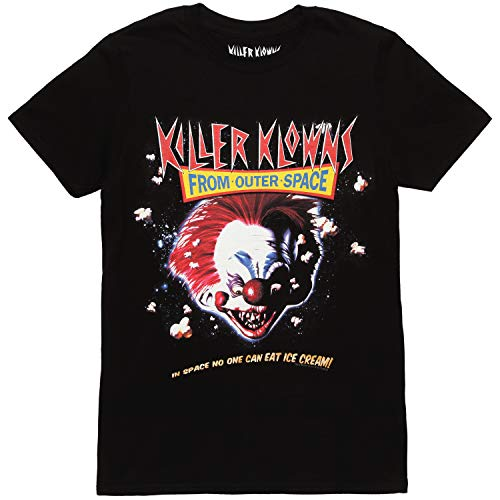 Killer Klowns from Outer Space Movie Poster Adult T-Shirt - Black (X-Large)
