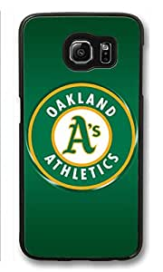 S6 Case, Galaxy S6 Case, Customize Samsung Galaxy S6 Hard Plastic Black Case Protection Shockproof Case Cover for New Galaxy S6 2015 - Oakland Athletics