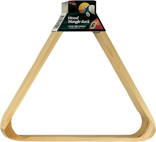 Viper Billiard/Pool Table Accessory: 8-Ball Rack, Hardwood Triangle, Holds Standard 2-1/4