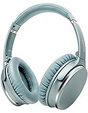 Noise Cancelling Koptelefoon Bluetooth Opvouwbaar,Srhythm NC25 Over-ear Draadloze Koptelefoon met Microfoon,Spraakoproep,Alleen 180g,voor iOS Android TV PC (groen -2)