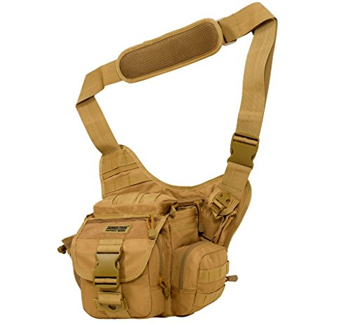 Seibertron Multi-functional Army Tactical Military Molle Shoulder Bags Outdoor Sports Motorcycle Ride Bicycle Bag Khaki