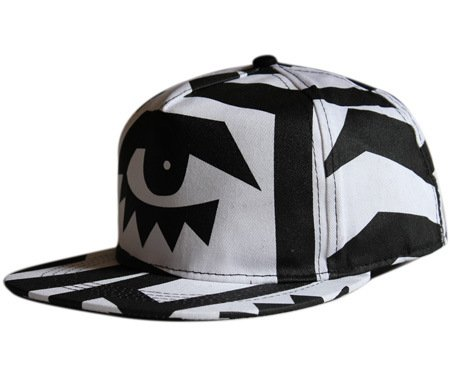5 Hat, Spring and Summer New Korean Tide Creative Graffiti Eyes Hiphop Men and Women Outdoor caps Hiphop Baseball caps