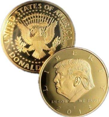 The Official 2018 Gold Donald Trump Commemorative Coin – Authentic 24k Gold Collectible Coin Of 45th President Of The United States – Republican Collectibles Challenge Memorabilia Gift [CASE INCLUDED]