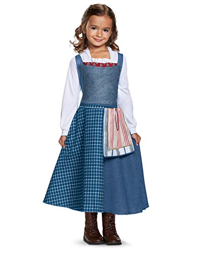 Disguise Belle Village Dress Classic Movie Costume, Multicolor, Medium (3T-4T) -