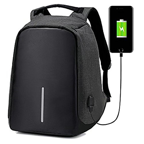 ipack zy-School Backpacks03 zy-School Backpacks03 Anti Theft Backpack Usb Port Laptop, Black