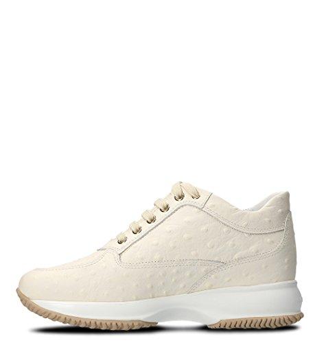 Hogan Dame Hxw00n02011ify0pcb Beige Leder Sneakers vYfM3HYA1